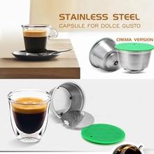 Paslanmaz çelik doldurulabilir kapsül fincan Dolce Gusto için uyumlu kahve kullanımlık filtresi çevre dostu gıda sınıfı kahve filtresi