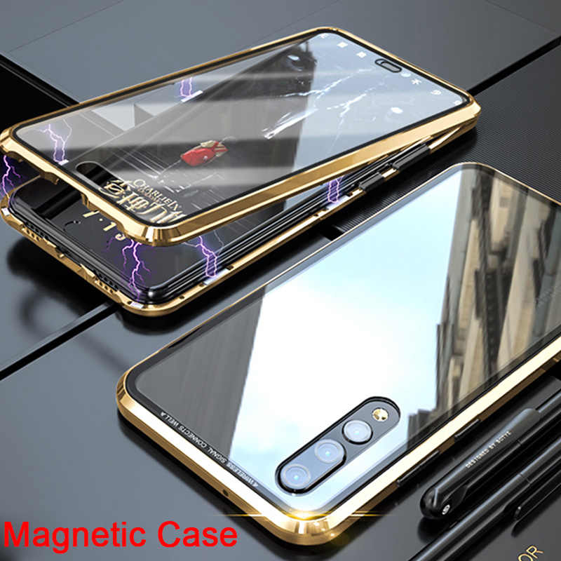 360 Magnetic Case For Huawei P20 P30 Lite P Smart 2019 Tempered  Glass Mirror Back Phone Cover For Mate 20 10 Lite 20 Pro 20X