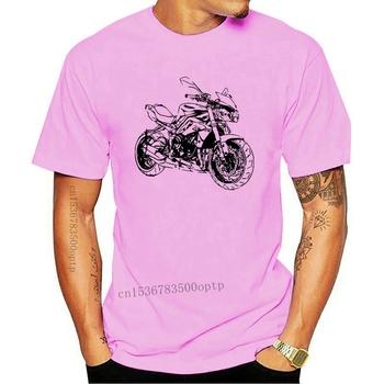 Nowe gorące oferty 2021 2021 letni mężczyzna hiphopowa koszulka T-Shirt motocykl uliczny ulica Triple 675 Slim T-shirt tanie i dobre opinie CASUAL SHORT CN (pochodzenie) COTTON Cztery pory roku Na co dzień Z okrągłym kołnierzykiem 2018 men women Sukno Drukuj