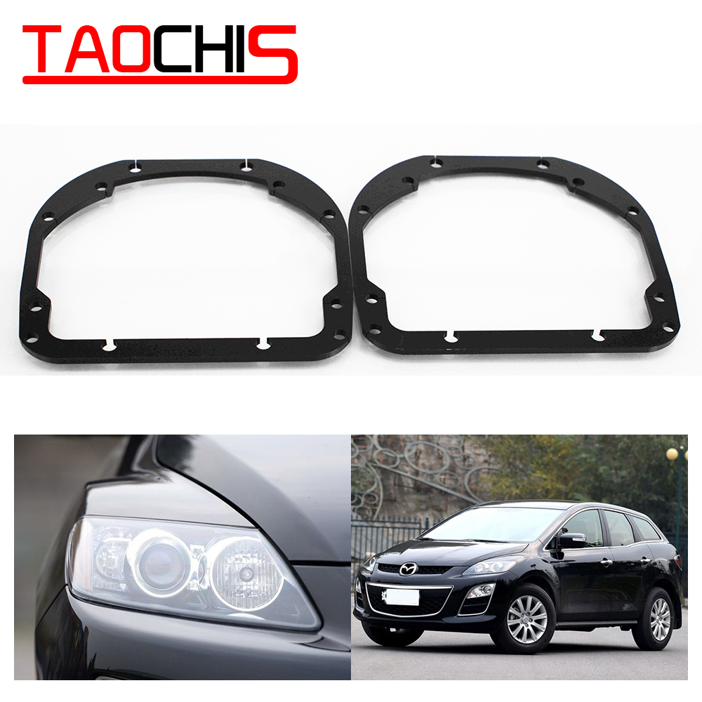 Taochis Car-Styling Frame Adapter Module DIY Bracket Holder For Mazda CX-7 CX7 Low Beam Hella 3 5  Projector Lens Spot Light