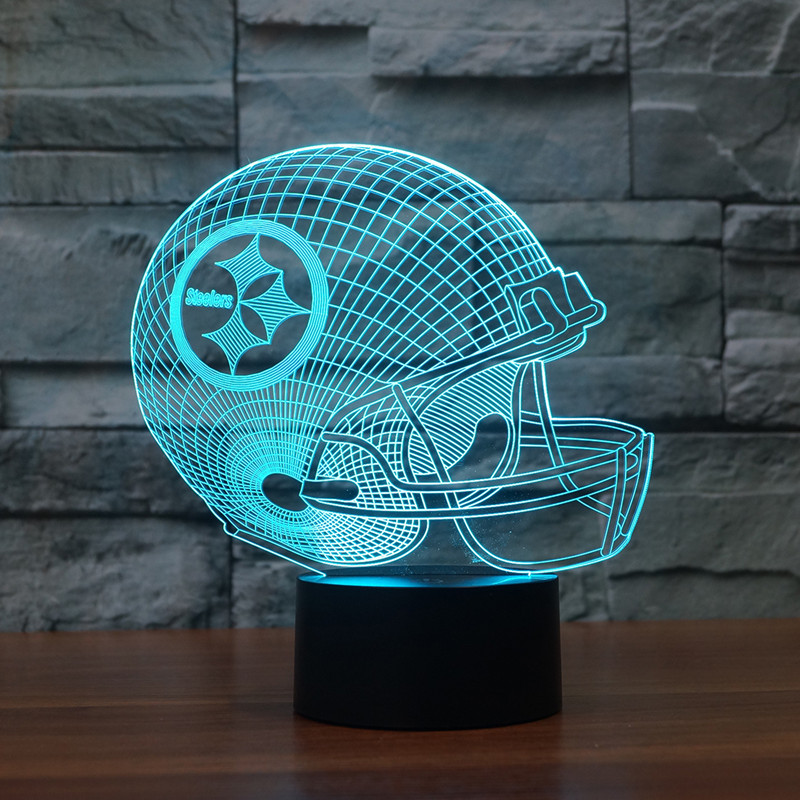 2019 Foreign Trade Football Helmet Pittsburgh Steelers 3D Lamp Colorful Touch Control LED Light 3442 image