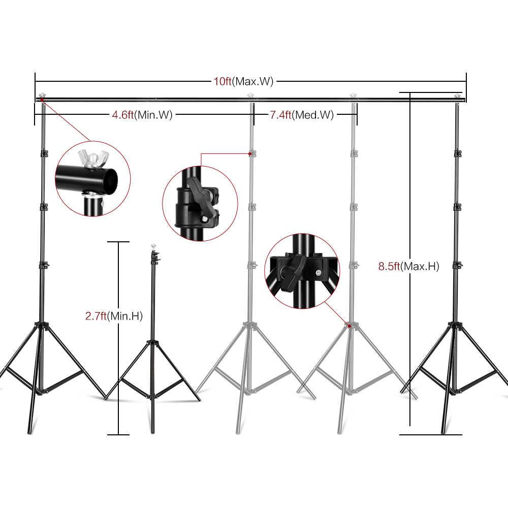 Sh Fotografie Achtergrond Achtergrond Stand Ondersteuning Foto Canvas Frame Systeem Kit Met Draagtas Voor Mousseline Foto Video Studio