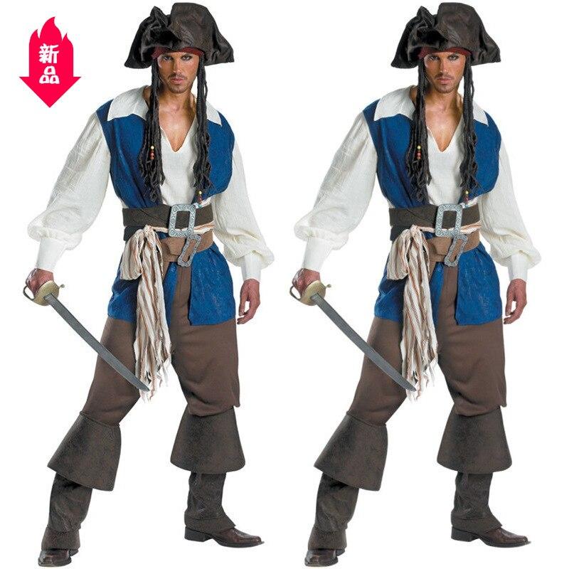 Déguisement d'halloween Pirates des caraïbes déguisement de pirate homme Pirates des caraïbes costume de jeu pour homme Halloween