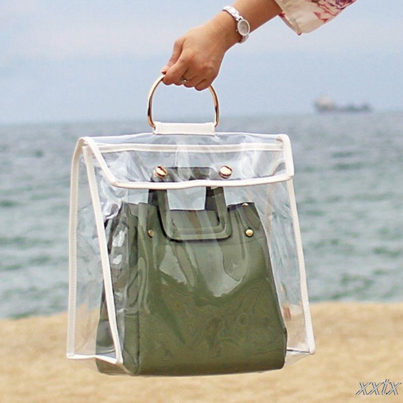 Keep Clean Handbag Dustproof Cover Transparent Storage Organizer Bag A69C