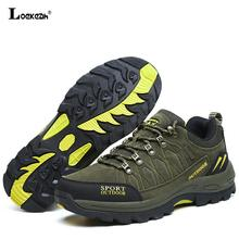 Plus Size Durable Outdoor Hiking Shoes Men Women Cow Suede Trekking Climbing Shoes Waterproof Non Slip Tactical Hiking Sneakers