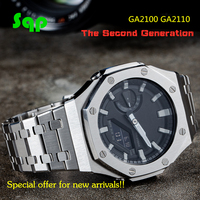 GA2100 The Second Generation Watch Set Modification GA2110 Watchband Bezel 100% Metal 316L Stainless Steel