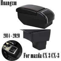 For mazda CX 3 CX 3 2014   2020 armrest box Dual layer heighten central Store content box cup holder ashtray accessories|Armrests| |  -