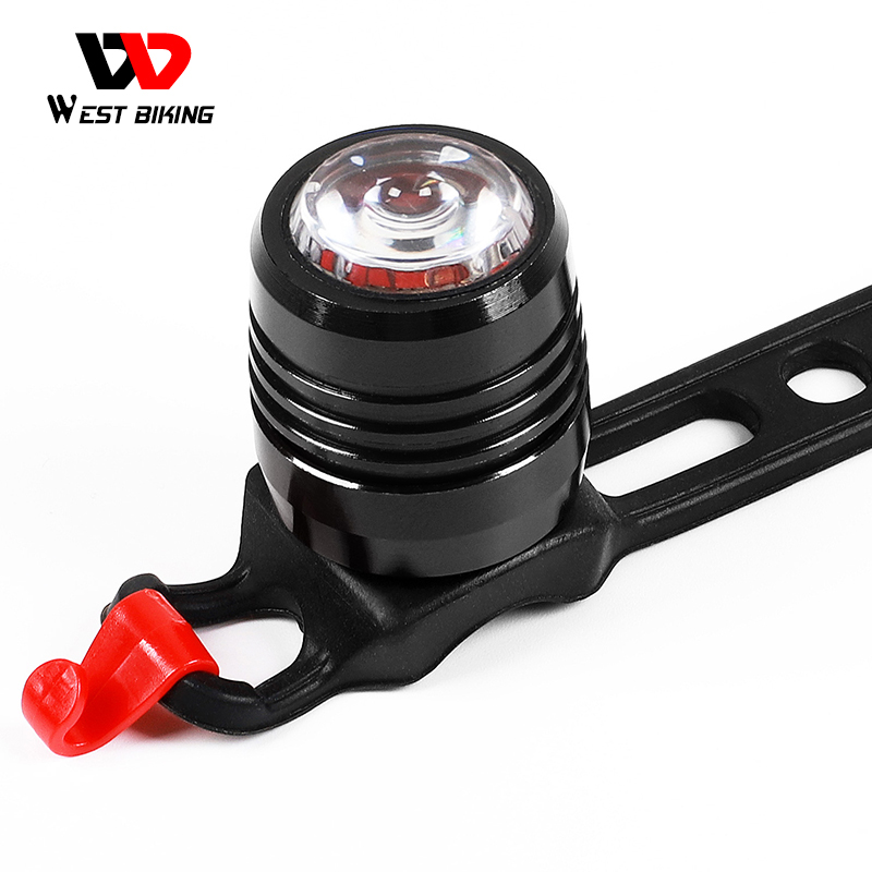 WEST BIKING Bicycle Rear <font><b>Light</b></font> USB Rechargeable 3-Mode Safety Warning <font><b>Bike</b></font> Lamp Alloy <font><b>Red</b></font> <font><b>White</b></font> <font><b>Light</b></font> Color Cycling Taillight image