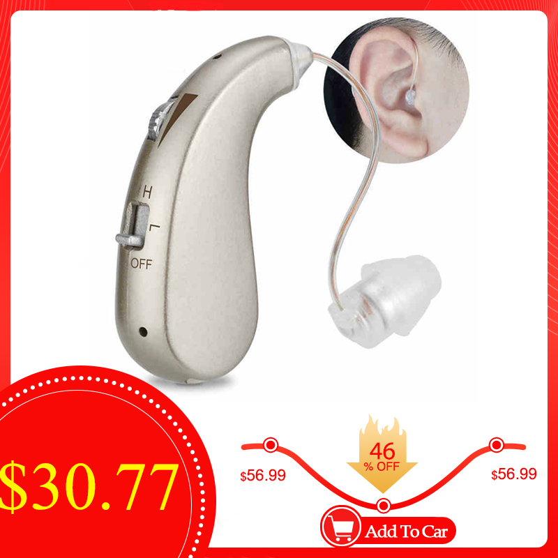 Rechargeable Digital Hearing Aid Severe Loss Invisible BTE Ear Aids High Power Amplifier Sound Enhancer 1pc For Deaf Elderly