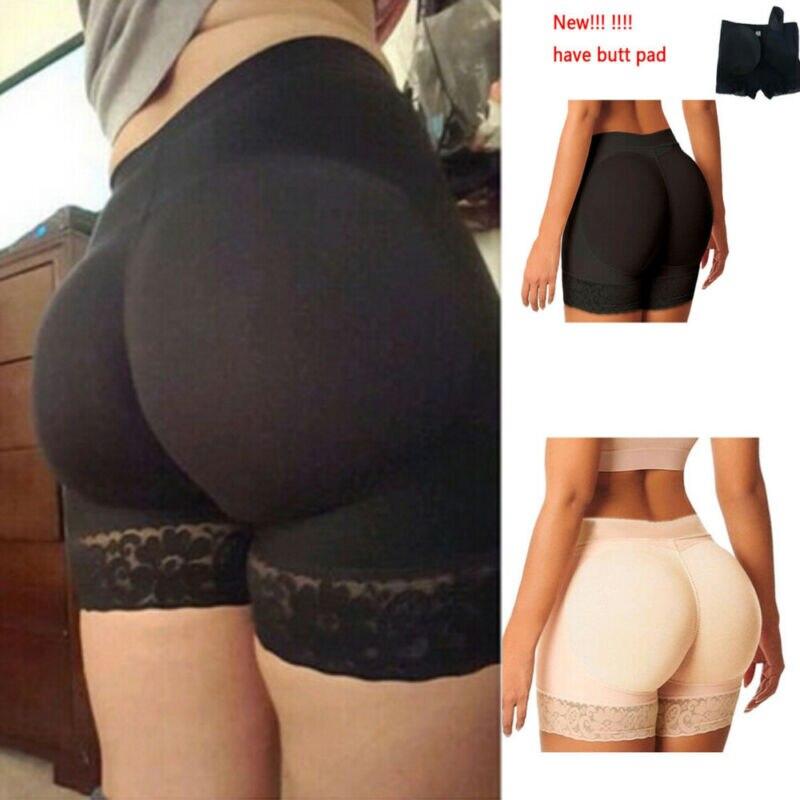 Women Shorts Bottom Panties Women Seamless Breathable Underwear Hip Enhancer Butt Padded Push Up Lace Panties Ladies Shorts