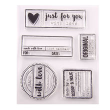 Marco de etiqueta sellos transparentes DIY, arte de colección de recortes, suministros, sello de silicona, álbum de fotos, sello transparente para estampado, 2020