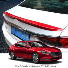 Car Styling ABS Material Roof Spoiler With The Paint Auto Decoration External Decorate For Mazda 6 Atenza 2019 Present Accessory