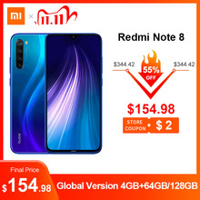 "Global Version Xiaomi Redmi Note 8 48MP 4 Cameras 4GB RAM 64GB/128GB Smartphone Snapdragon 665 Octa Core 6.3"" FHD Mobile Phone"