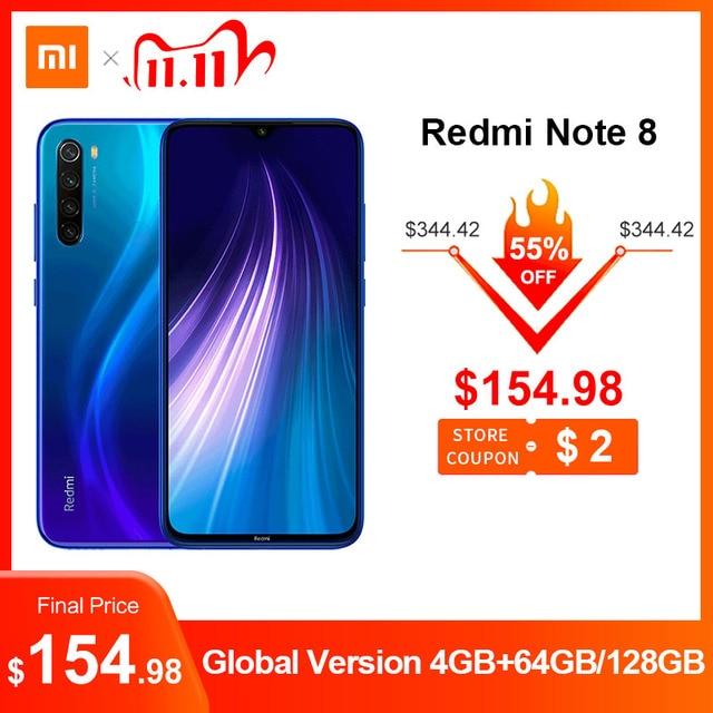 "Global Version Xiaomi Redmi Note 8 48MP 4 Cameras 4GB RAM 64GB/128GB Smartphone Snapdragon 665 Octa Core 6.3"" FHD Mobile Phone"