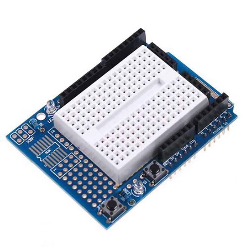 RISE-Uno Proto Shield Prototype Expansion Board With Syb-170 Mini Bread Board Based For Arduino Uno