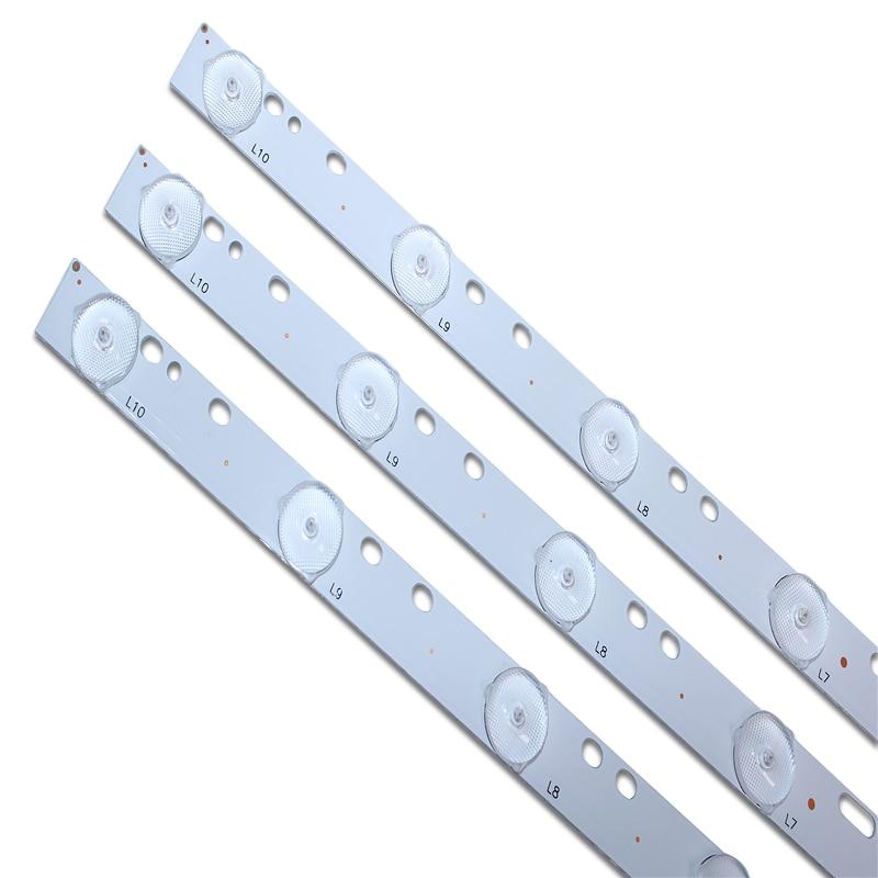 6pcs 32''  570mm*17mm 10leds LED Backlight Lamps LED/ Optical Lens Fliter For TV Monitor Panel 30V New