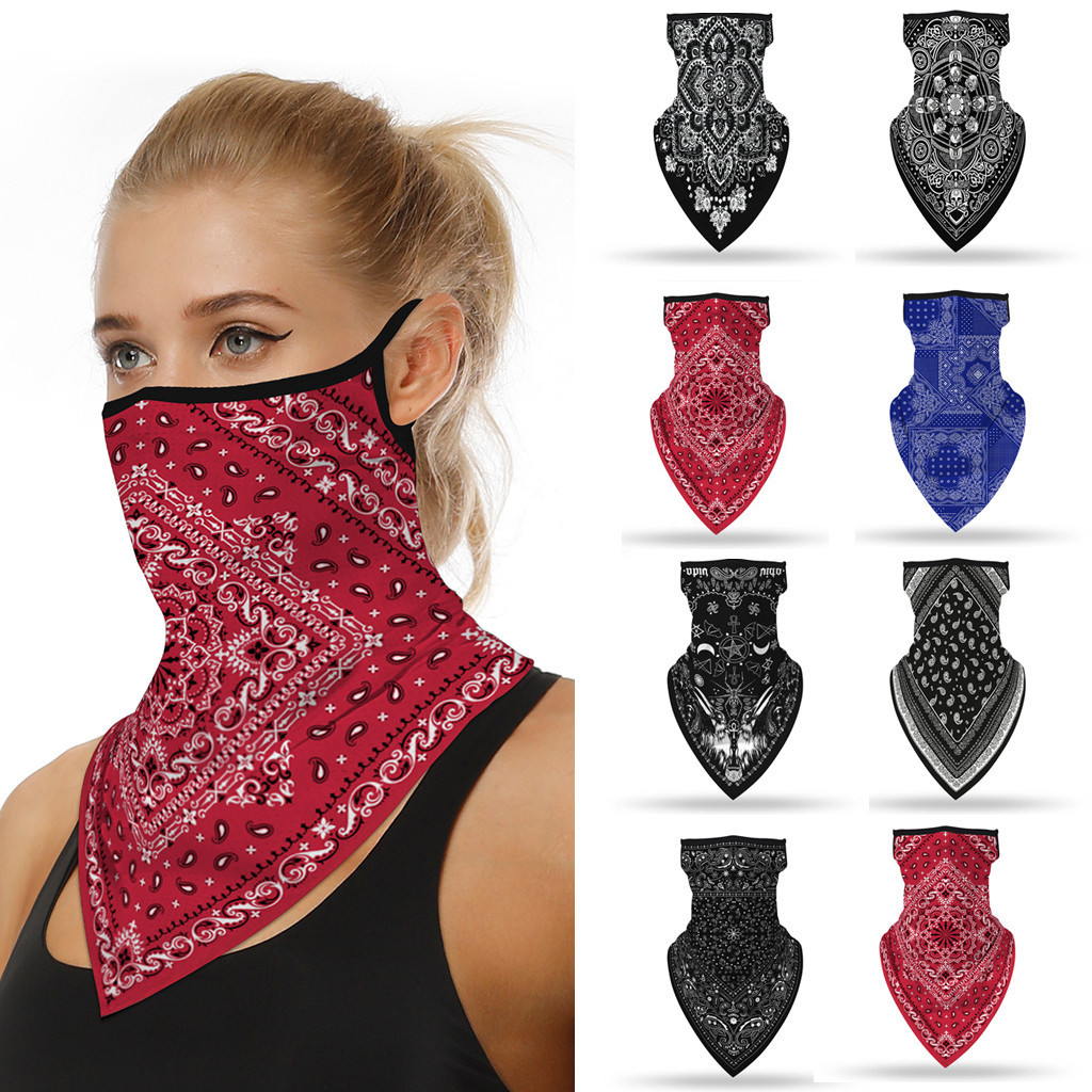Outdoor Print Seamless Magic Scarf Ear Hook Sports Scarf Neck Tube Face Dust Riding Bandana UV Protection Neck Gaiter Scarf(China)