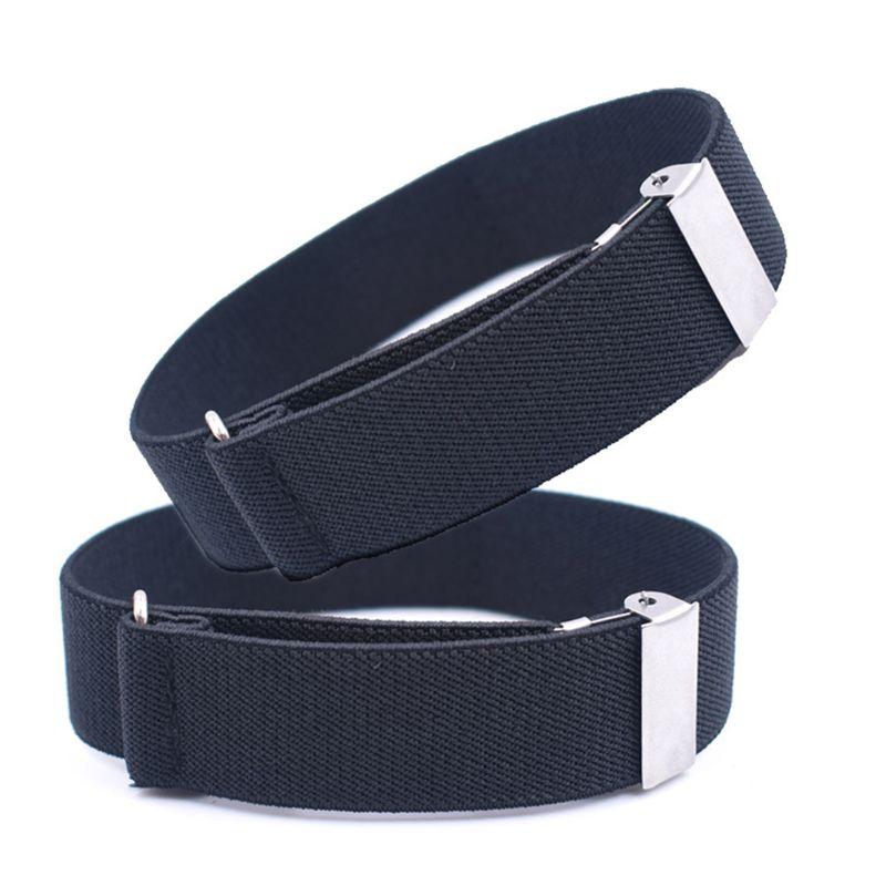 2pcs Mens Groom Shirt Sleeve Holder Metal Non-slip Strap Elastic Stretch Armband A69C