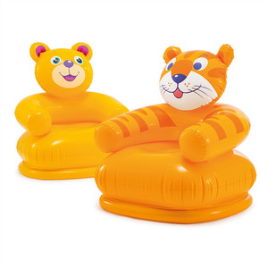 Image 2 - Cute Portable Cartoon Animal inflatable sofa Children Seat Tiger bear For Kid 3 8 Years Old Lovely Kids PVC Chairs Baby Seats