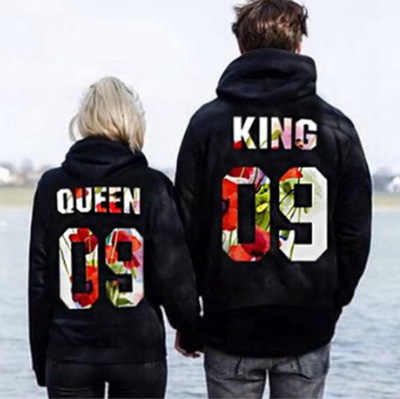women hoodies sweatshirts Queen King For pairs Pullover Hoodie NEW Outerwear Pullover Jumper Sweatshirt Hoodies Tops