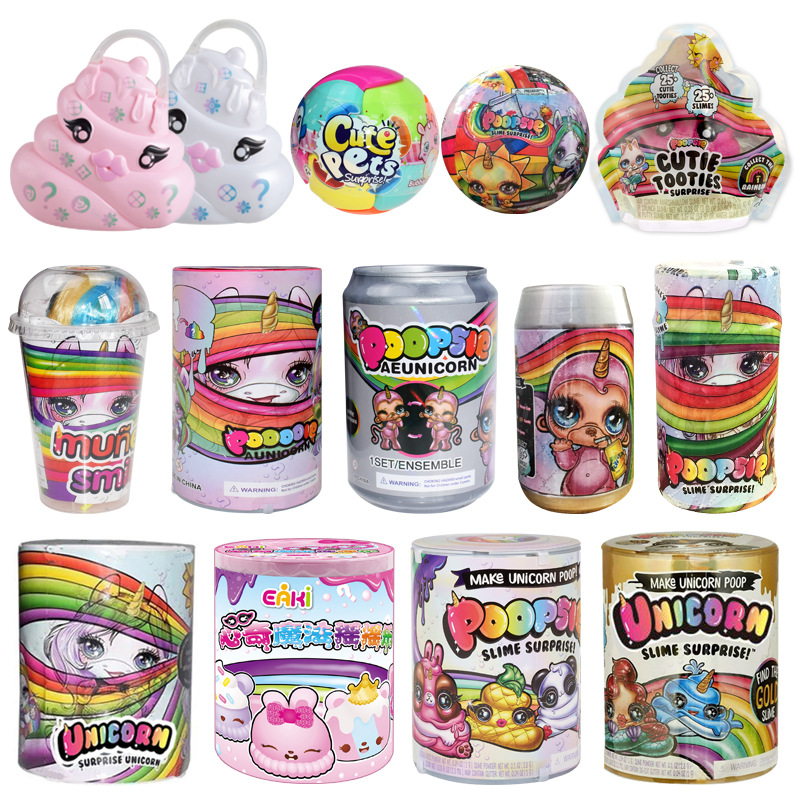 Decompression Toy Squeezing Unicorn Poopsie Slime Unicorne Soft Relief Stress For Gift