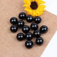 Cuentas de perlas ABS de imitación para manualidades, suministros de artesanía de costura DIY, negro, redondo, 3/4/6/8/10/12/14/16/18/20mm
