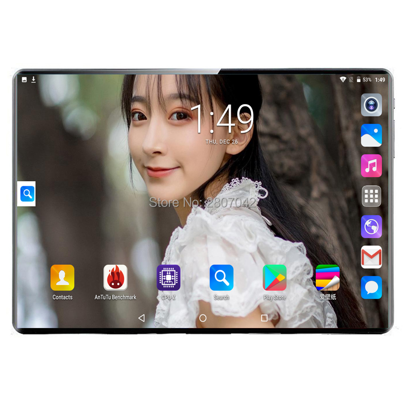 2020 Global Version 10 Inch Tablet PC 8GB RAM 128GB ROM 1920*1200 IPS Dual SIM Card 3G/4G LTE FDD Wifi Android 9.0 Tablet 10.1