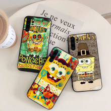 Para huawei honor 7C 5.99IN 7X 8X 8C NOTA 10 VISTA 20 7A 9X Pro 8 9 10 lite caso de telefone best Friends Forever BFF Spongebob(China)