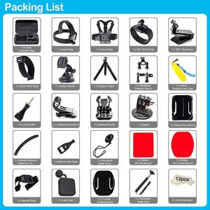 Image 3 - FULL 50 in 1 Action Camera Accessories Kit for GoPro Hero 2018 GoPro Hero6 5 4 3 Carrying Case/Chest Strap/Octopus Tripod