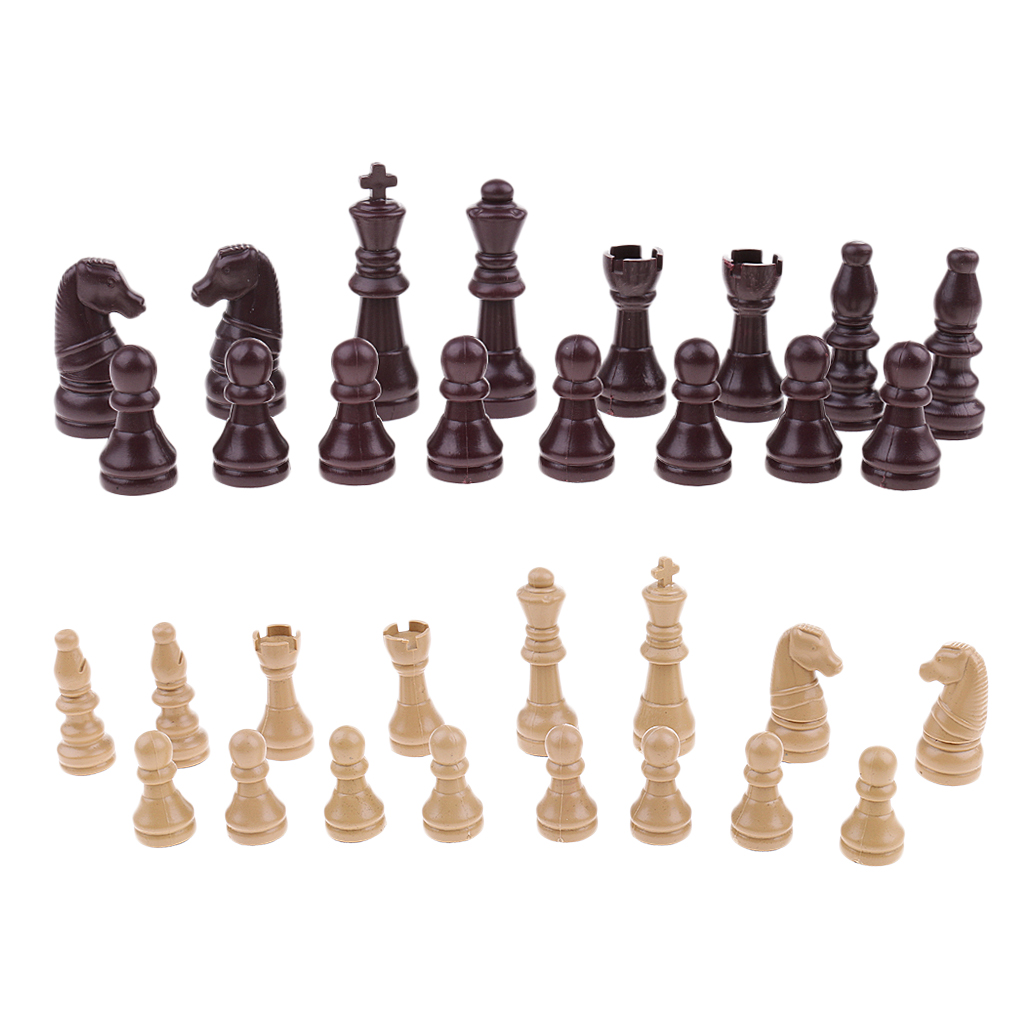 16pcs Replacement Plastic Chess Pieces/Chessman Set Chess Board Game Accessories