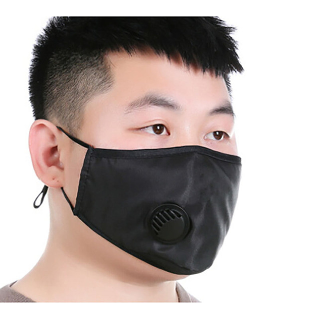 Cotton PM2.5 anti dust mask Black mouth Mask Activated carbon filter Windproof Mouth-muffle bacteria proof Flu Face masks Care 5