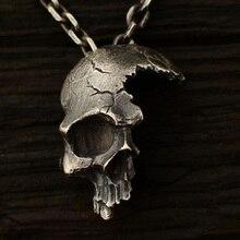 2019 Explosions Retro Half Skull Necklace Metal Skull Pendant Gothic Jewelry Choker Pendant Crow Skull Chain Skeleton Trendy
