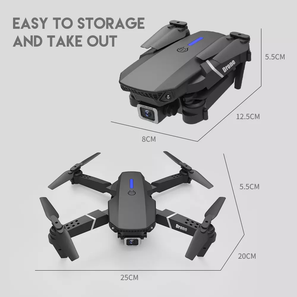 LSRC 2020 New Quadcopter Drone E525 HD 4K 1080P Camera And WiFi FPV Height Maintaining RC Foldable Quadcopter Drone Gift Toy 5