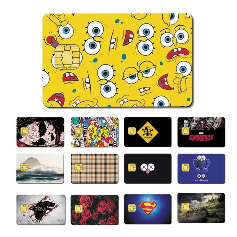 Magic Shark PVC 5 Years No Fade High Quality Joker SpongeBob Superman Dollar Star War Credit Card Sticker Film Skin