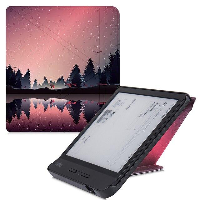 Умный чехол BOZHUORUI для чтения электронных книг Kobo Forma 8 дюймов, многоугольный чехол подставка Премиум из искусственной кожи с функцией автоматического сна/пробуждения