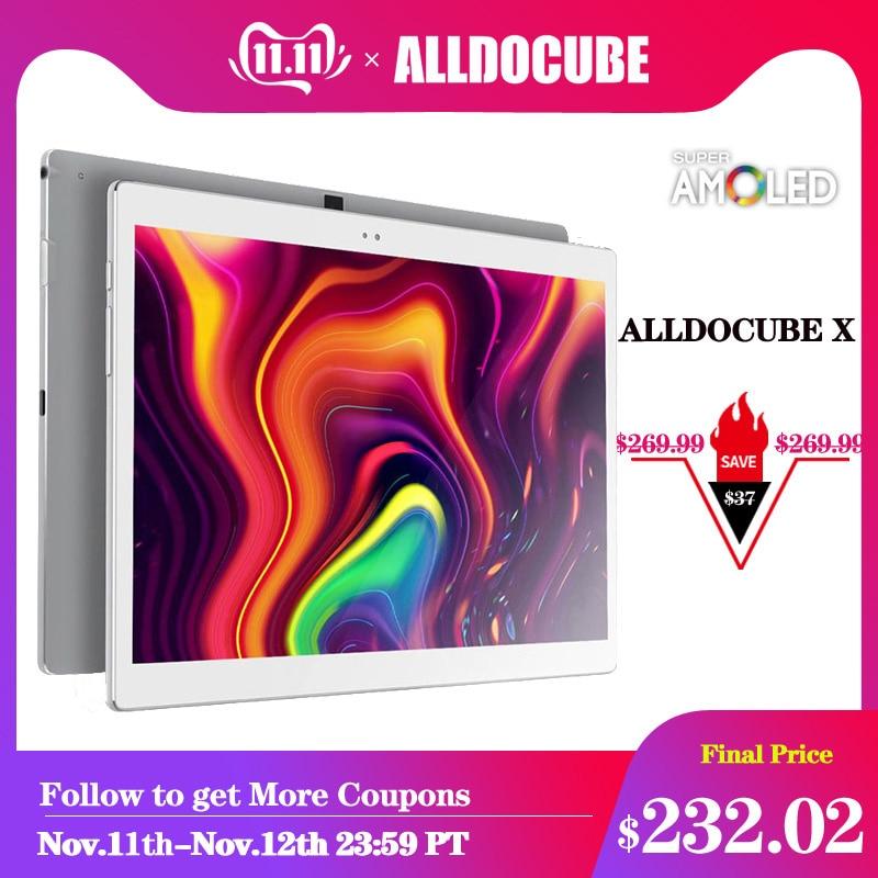 Alldocube x 10.5 polegada 2 k 2560*1600 super amoled tela 6.9mm ultra magro corpo tablet pc android 8.1 4 gb ram 64 gb rom impressão digital