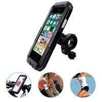 Universal à prova dwaterproof água bicicleta & motocycle telefone titular saco suporte de montagem do telefone para o iphone 11/11 pro/11 pro max para samsung