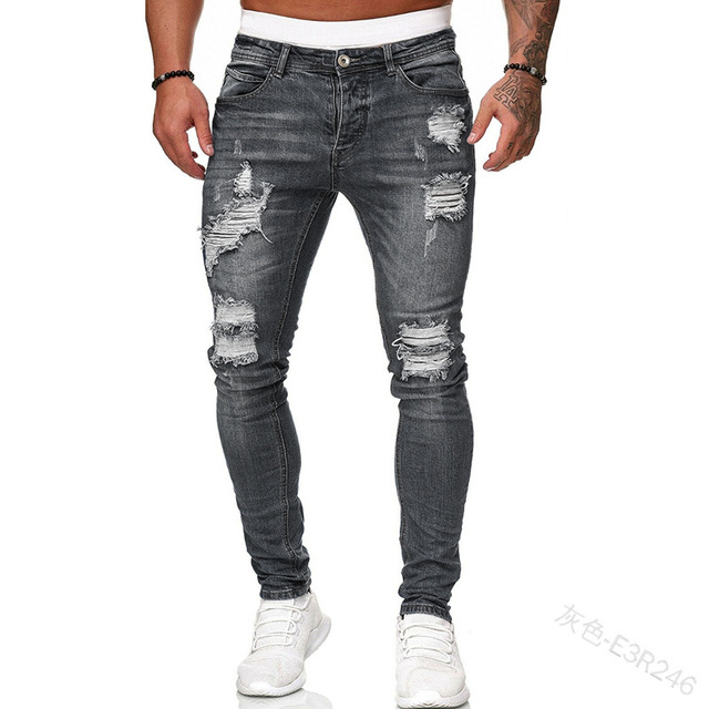 Distressed Stretch Slim Fit Jeans 8