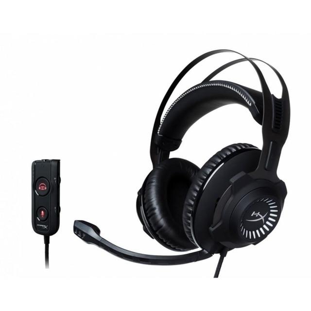 Гарнитура HyperX Cloud Revolver S проводная, звук 7.1, 12–28000 Гц, 30 Ом, цвет: черный с серым