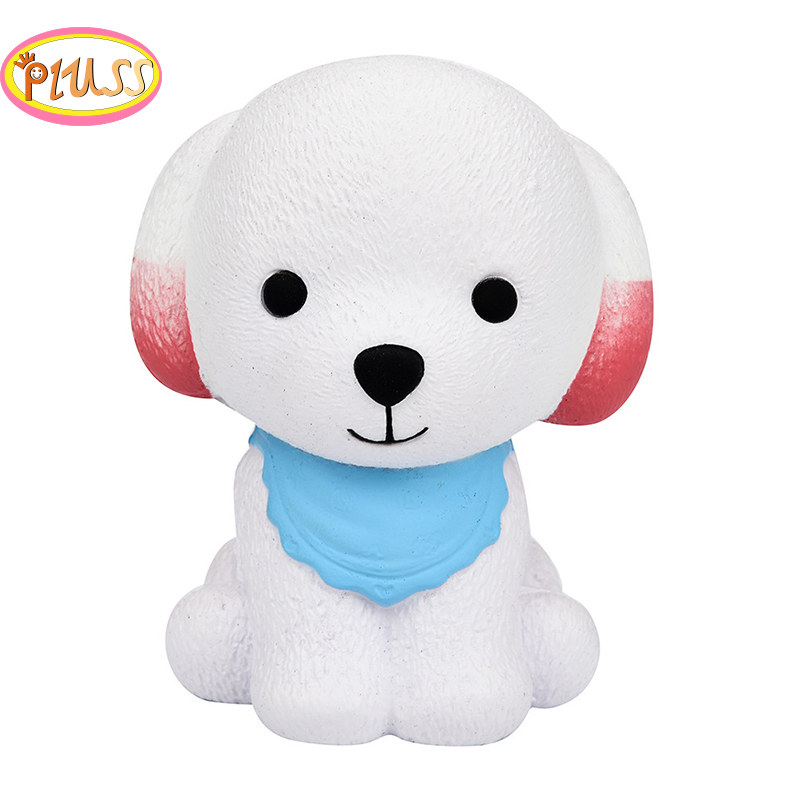 Squishy Dog Jumbo Squeeze Scarf Dog Cream Bread Scented Slow Rising Stress Relief Toys Phone Charm Gifts For Kids And Adults
