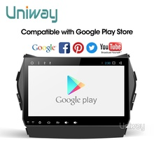 Uniway AIX459071 IPS אנדרואיד 9.0 רכב dvd עבור יונדאי IX45 סנטה פה 2013 2014 רכב רדיו סטריאו ניווט dvd לרכב נגן gps