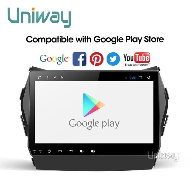Uniway AIX459071 IPS android 9.0 araç DVD oynatıcı Hyundai IX45 Santa fe 2013 2014 araba radyo stereo navigasyon araba DVD OYNATICI gps