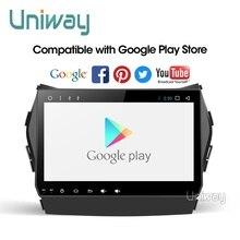 Uniway AIX459071 ips android 9,0 автомобильный dvd для hyundai IX45 Santa fe 2013 2014 автомобильный радиоприемник стерео автомобильный dvd плеер с навигацией плеер gps