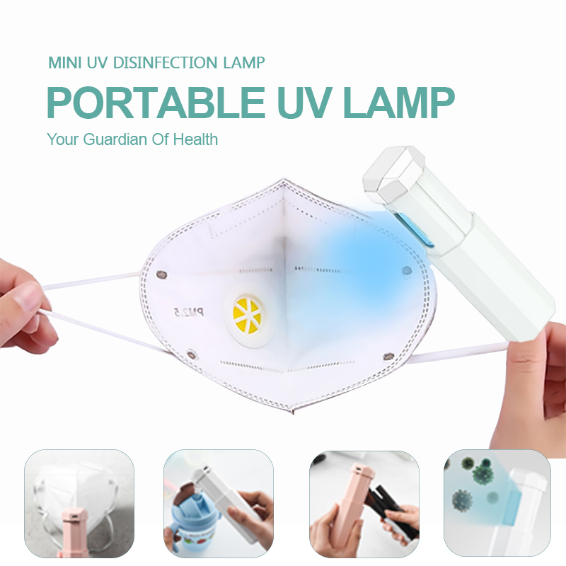 Mini Portable UVC Sterilizer Lamp Handheld USB Charging UV Disinfection Lamp For Home And Work And Travel UV Disinfection Mask