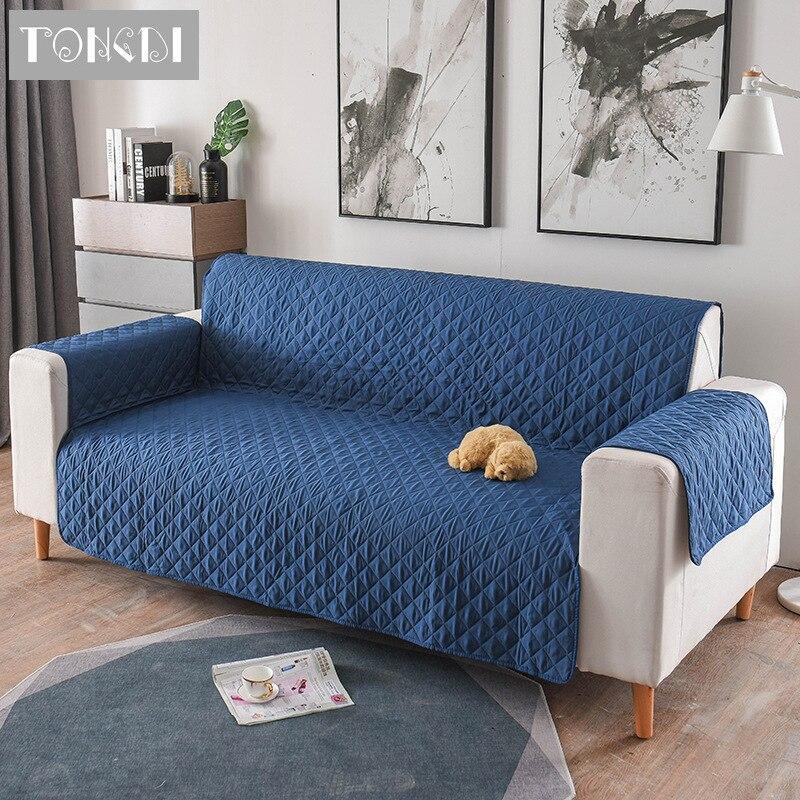 Tongdi-funda de sofá moderna y gruesa de lujo, toalla elegante, antideslizante, para sala de estar, 1/2/3 asientos