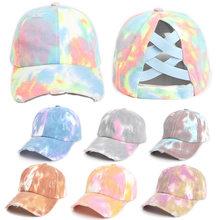 2021 New Spring Fashion Tie-dye Baseball Caps Men Women Trend Unisex Hip Hop Snapback Hat For Sport Cotton Adjustable Bone Hats