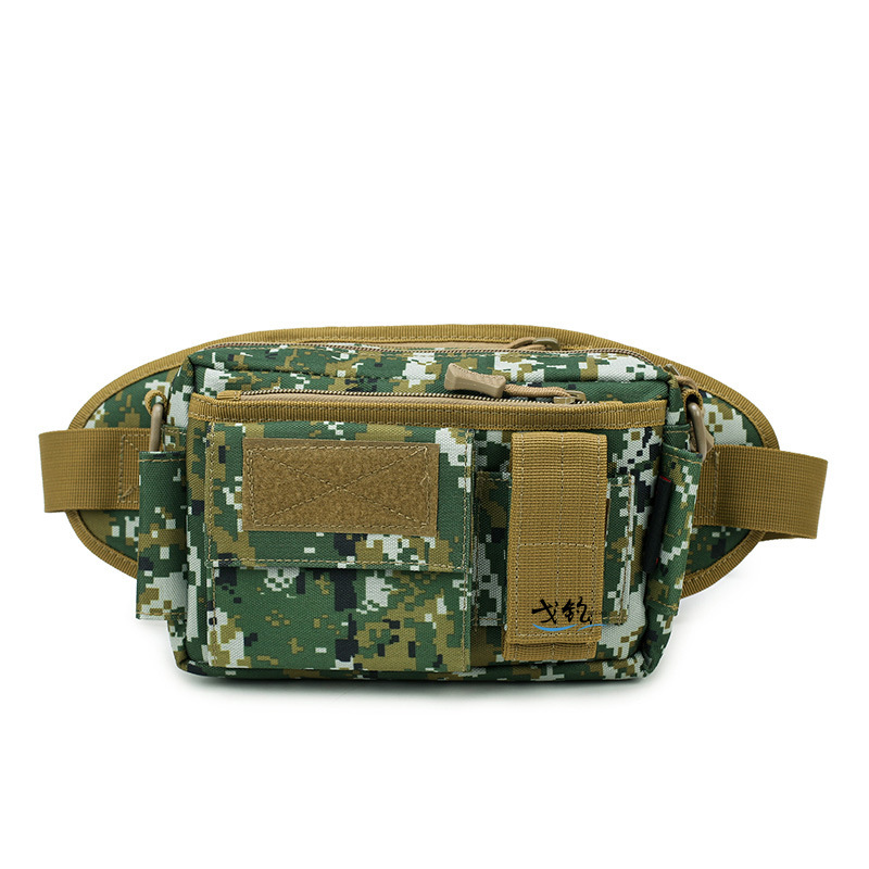 GE Fishing Outdoor Sports Camouflage Small Wallet Deconstructable Triple Use Combination Wallet Tactical Girdle Crossbody Bag