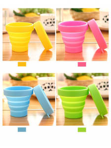 Folding-Cup Telescopic Water-Cup Retractable Travel Collapsible Outdoor Silicone Camping