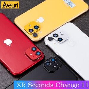 Image 2 - Cho Iphone XR Giây Thay Đổi Cho Iphone 11 Ống Kính Dán IPhone11 Kim Loại Sang Trọng Alumium Nắp Bảo Vệ Camera Vỏ Bảo Vệ