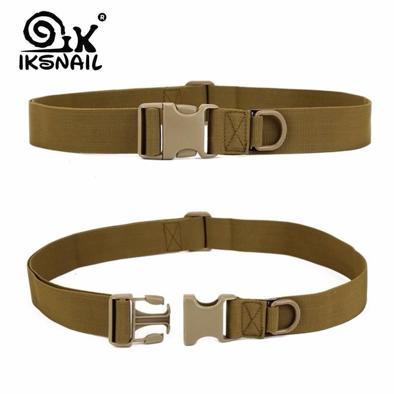 IKSNAIL Men Adjustable Tactical Belt Buckle Tactical Bag Waistband Military Rescue Useful Sport Belt Series In Multiple Pockets 1